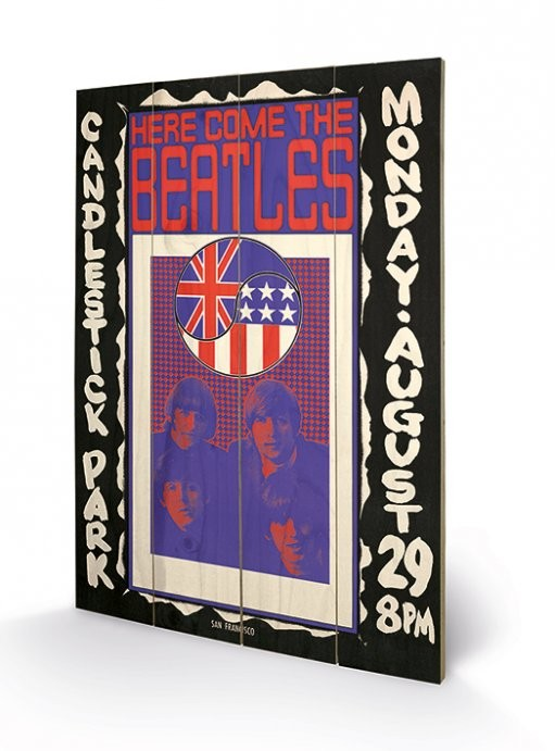 The Beatles - Here Come The Beatles Wooden Art