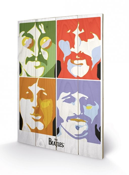 The Beatles - Sea of Science Wooden Art