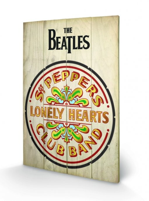 The Beatles Sgt Peppers Wooden Art