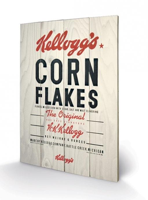 VINTAGE KELLOGGS - corn flakes Wooden Art