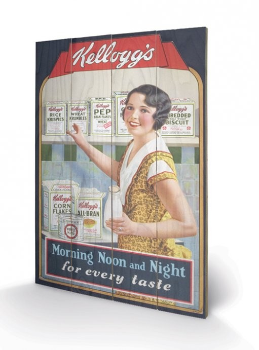 VINTAGE KELLOGGS – morning,noon&night Wooden Art