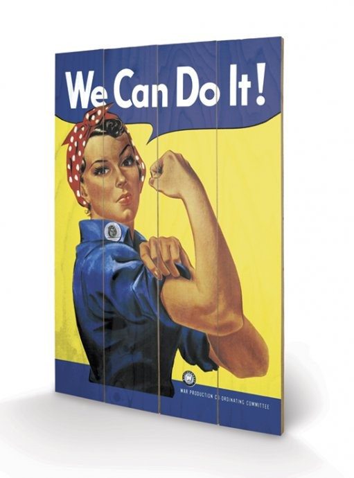 We Can Do It! - Rosie the Riveter Wooden Art
