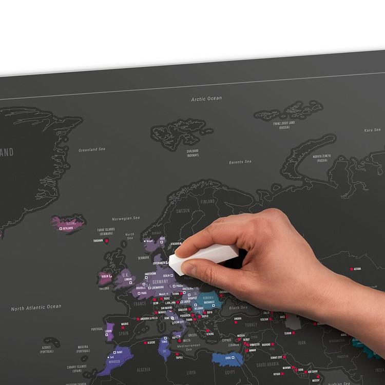 Scratch Map World Capitals Edition