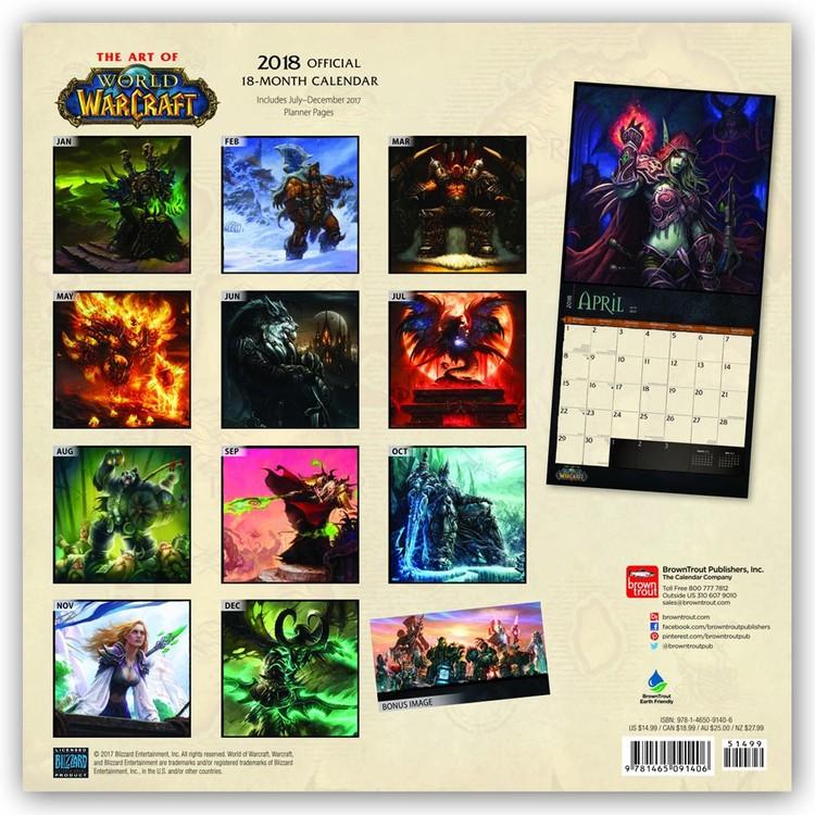 World Of Warcraft Wall Calendars Large Selection
