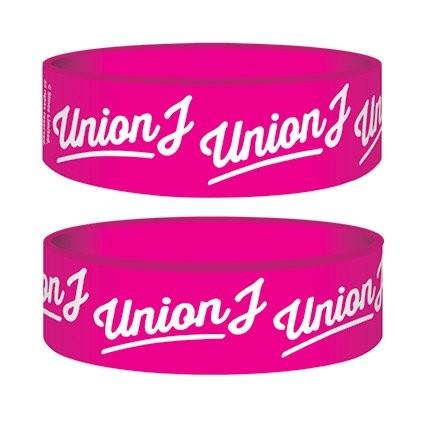 UNION J - pink logo Wristband