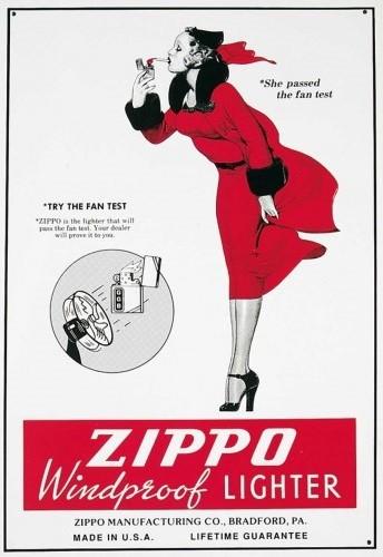 ZIPPO Plaque métal décorée