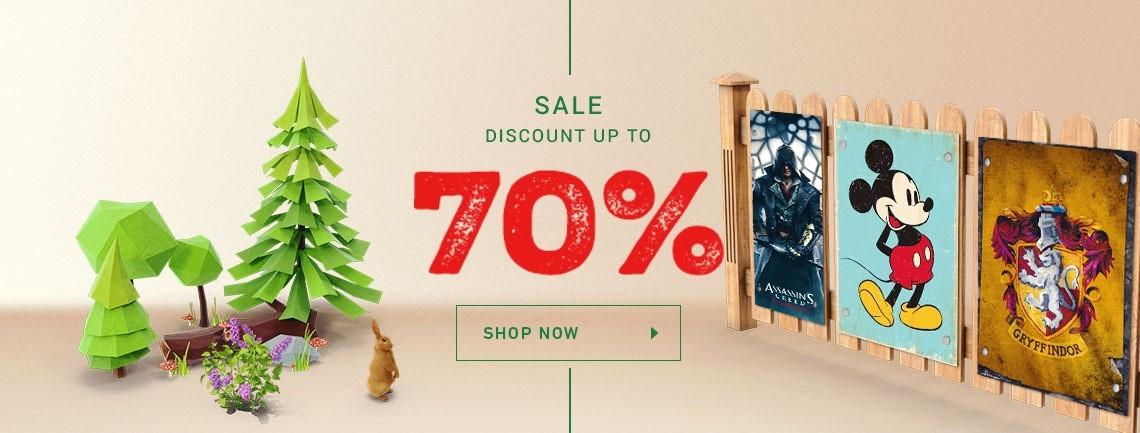 Sale<br />%
